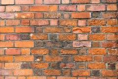 Alte Backsteinmauernahaufnahme Stockfotos