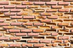 Alte Backsteinmauernahaufnahme Lizenzfreies Stockbild