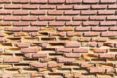 Alte Backsteinmauernahaufnahme Stockbilder