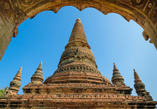 Alte Bagan-Pagode, Myanmar Lizenzfreies Stockbild