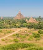 Alte Bagan-Pagoden, Myanmar Lizenzfreies Stockfoto