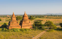 Alte Bagan-Pagoden, Myanmar Lizenzfreie Stockbilder