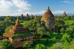 Alte Bagan-Pagoden und Tempel, Mandalay, Myanmar Stockfotografie