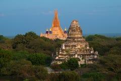 Alte Bagan-` s Tempel in der Abenddämmerung myanmar Stockfotografie