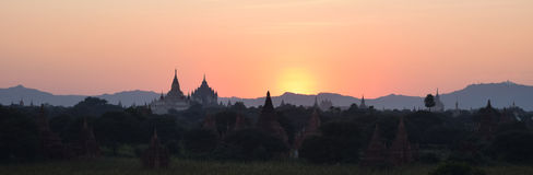 Alte Bagan-Tempel, Mandalay, Myanmar Lizenzfreies Stockbild
