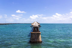 Alte Bahia Honda Rail Bridge, Bahia Bay State Park, Florida-Schlüssel Stockfotos