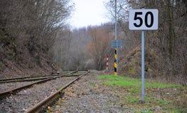 Alte Bahn in Jakartovice Lizenzfreie Stockfotografie