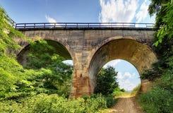 Alte Bahn-Kopras-Brücke in Slowakei Stockfotografie