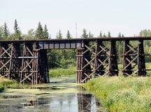 Alte Bahnbockbrücke Stockfotos