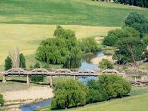 Alte Bahnbrücke Stockfoto