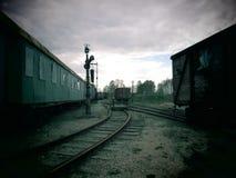 Alte Bahngleise, Litauen Lizenzfreies Stockbild