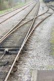 Alte Bahnlinie Verzweigung Stockfoto