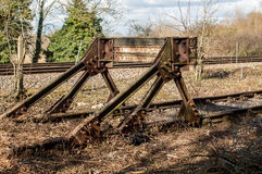 Alte Bahnpuffer Stockfoto