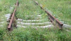 Alte Bahnschienen. Lizenzfreie Stockbilder