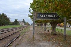 Alte Bahnstation Lizenzfreies Stockbild