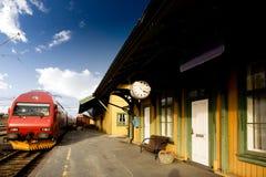Alte Bahnstation Stockfotos