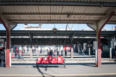 Alte Bahnstation Lizenzfreie Stockfotografie