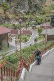 Alte Bahnstation Alausi Ecuador Lizenzfreie Stockfotografie