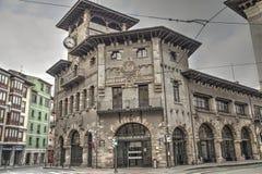 Alte Bahnstation in Bilbao, Spanien Lizenzfreie Stockfotos