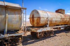 Alte Bahnstation in Bolivien-Wüste Lizenzfreie Stockfotografie