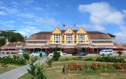 Alte Bahnstation in Dalat, Vietnam Lizenzfreie Stockbilder