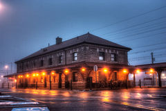 Alte Bahnstation in Lansdale, Pennsylvania Lizenzfreies Stockfoto