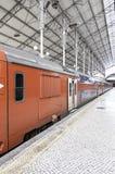 Alte Bahnstation in Lissabon Lizenzfreies Stockbild