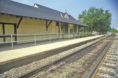 Alte Bahnstation, Montgomery County, Maryland Lizenzfreies Stockfoto