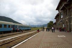 Alte Bahnstation in Rumänien Lizenzfreie Stockbilder