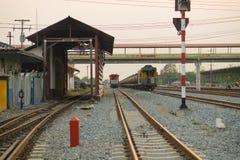 Alte Bahnstation thailand Lizenzfreies Stockfoto
