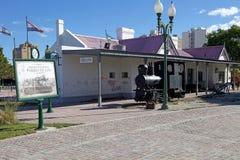 Alte Bahnstation von Trelew, eine Stadt in Chubut-Provinz von Patagonia in Argentinien Lizenzfreie Stockfotografie