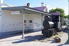 Alte Bahnstation von Trelew, eine Stadt in Chubut-Provinz von Patagonia in Argentinien Lizenzfreies Stockfoto