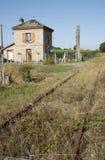 Alte Bahnstrecke in Frankreich Stockbilder