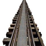 Alte Bahnstrecken Lizenzfreies Stockbild