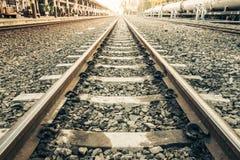 Alte Bahnstrecken Stockbild