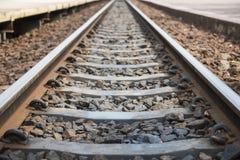 Alte Bahnstrecken am Bahnhof Lizenzfreie Stockbilder