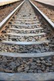 Alte Bahnstrecken am Bahnhof Stockfoto