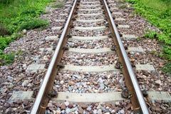 Alte Bahnstrecken am Bahnhof Stockbilder
