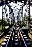 Alte Bahnstrecken am Bahnhof, Transport Stockfotografie