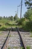 Alte Bahnstrecken in der Natur Lizenzfreie Stockfotos