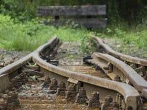 Alte Bahnstrecken - Endstation Lizenzfreies Stockbild