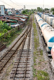Alte Bahnstrecken mit Mustern Stockfoto
