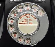 Alte Bakelit-Telefon-Skala Lizenzfreies Stockfoto