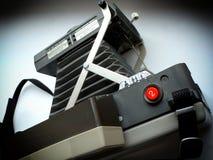 Alte Balg-Polaroid-artige Kamera-Nahaufnahme Stockfotos