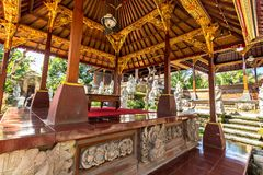 Alte Balinesestatuen, Hinduismus stockbilder