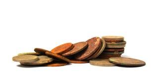 Alte Balkan zerstreute Münzen Lizenzfreie Stockfotografie