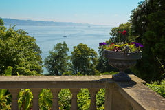 Alte Balkon-Ansicht Lizenzfreie Stockfotos