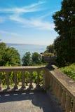 Alte Balkon-Ansicht Stockbilder
