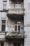 Alte Balkone Stockbild