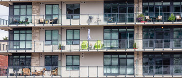 Alte Balkone Stockfotografie